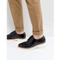 Ben Sherman Hi Shine Derby Shoes In Black Leather - Black