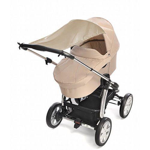Daszek przeciwsłoneczny osłona do wózka uv50 reer - beżowy marki Reer gmbh