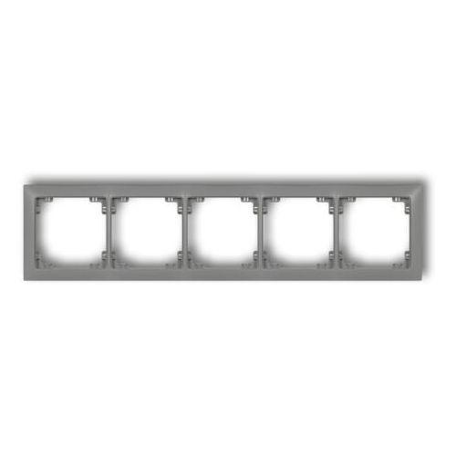DECO Ramka uniwersalna pięciokrotna z tworzywa DECO Soft grafitowy mat 28DRSO-5 (5901832009900)