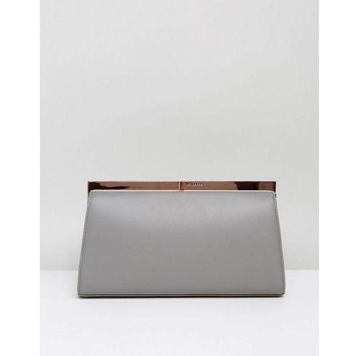 Ted Baker Mesa Metal Frame Detail Clutch Bag - Grey