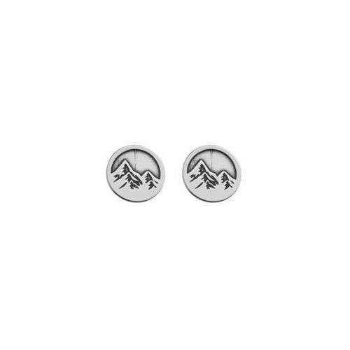 Sztyfty / kolczyki okrągłe Góry, srebro 925 SZ 92