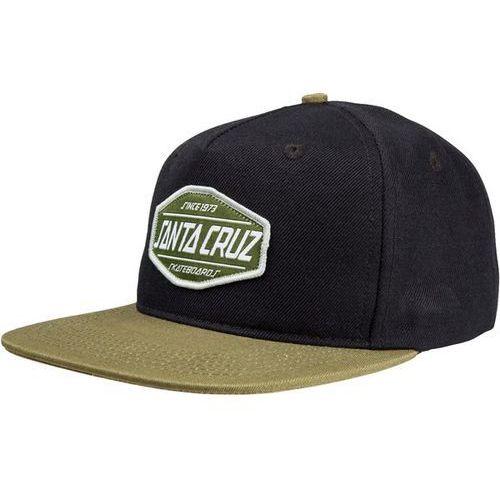 czapka z daszkiem SANTA CRUZ - Route Cap Black/Olive (BLACK-OLIVE) rozmiar: OS, kolor czarny