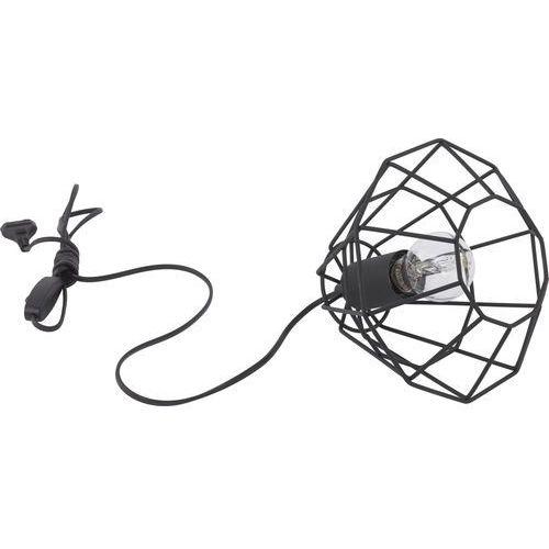 Tklighting Lampa druciana stołowa lampka diament tk lighting diamond 1x60w e27 czarna 3074 (5901780530747)