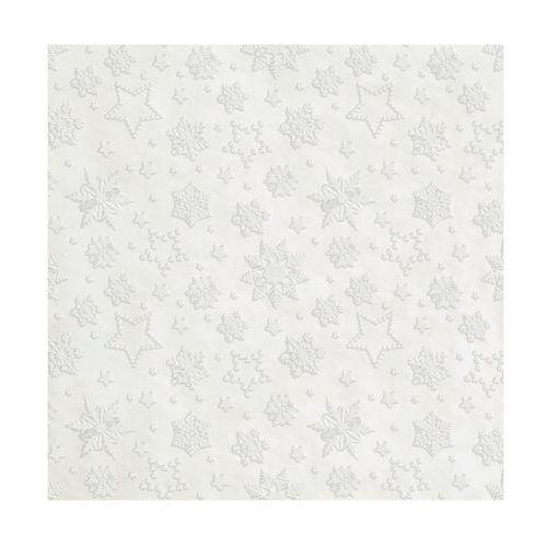 Paw decor Serwetki świąteczne winter flakes perłowe 33 x 33 cm 20 szt.