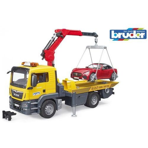 Bruder Pomoc drogowa z autem roadster man tgs (4001702037505)