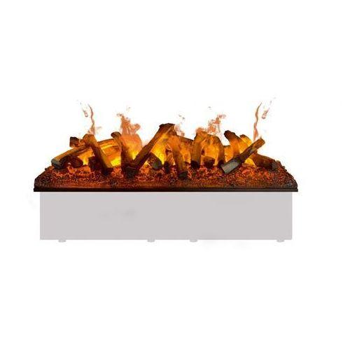 Wkład kominkowy do zabudowy kaseta 1000 R 3D LED z polanami - model 2021 - świeci i dymi - SUPER DODATKOWY RABAT