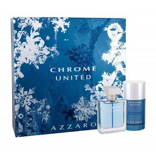 :azzaro: Azzaro chrome united 50ml woda toaletowa + 75ml dezodorant w sztyfcie [m] zestaw