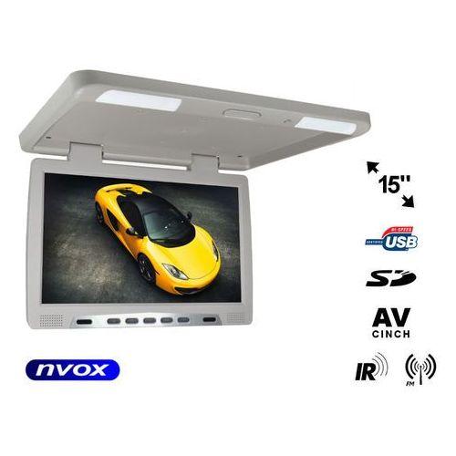 "NVOX RF1590U GR Monitor podwieszany podsufitowy LCD 15"" cali LED IR FM USB SD"