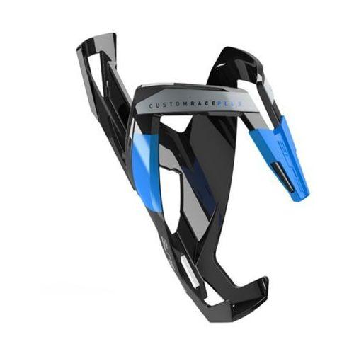 Elite Koszyk na bidon custom race plus czarny-niebieski / wykończenie: połysk