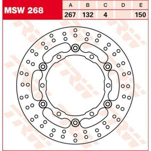 TRW Tarcza hamulcowa TRW MSW268 YAMAHA XP 500 T-Ma
