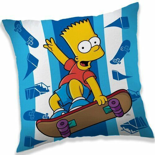 Poduszka The Simpsons Bart skater, 40 x 40 cm, 222949