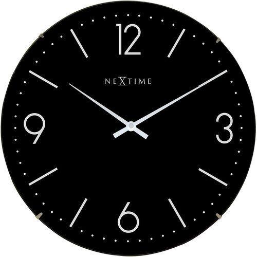 NeXtime - Zegar ścienny Basic Dome - czarny (8717713016601)