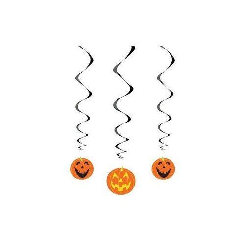Dekoracja wisząca Dynie na halloween - 68 cm - 3 szt. p