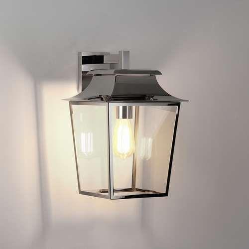 Kinkiet oprawa ścienna lighting richmond wall lantern 254 1x60w e27 polerowany nikiel 1340010 marki Astro