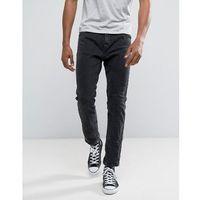 Bershka Slim Fit Jeans In Washed Black - Black, slim