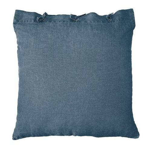 HKliving Lniana poduszka w kolorze industrialnym niebieskim - HK Living TKU2018, TKU2018