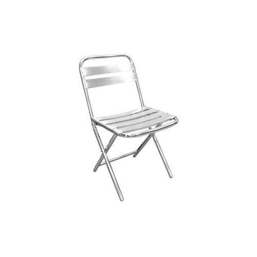 Krzesło aluminiowe sztaplowane | 430x560x(h)800mm | 4szt. marki Bolero