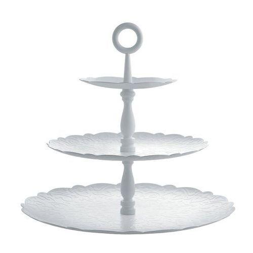 Etażerka na ciasto Dressed for X-mas trzypoziomowa biała, MW52/3 W