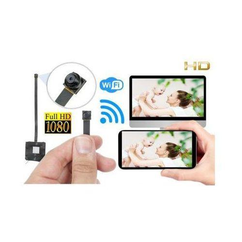 Szpiegowska Mini-Kamera HD/FULL HD (do ukrycia/zabudowy) WiFi/P2P (zasięg cały świat!) + Zapis...
