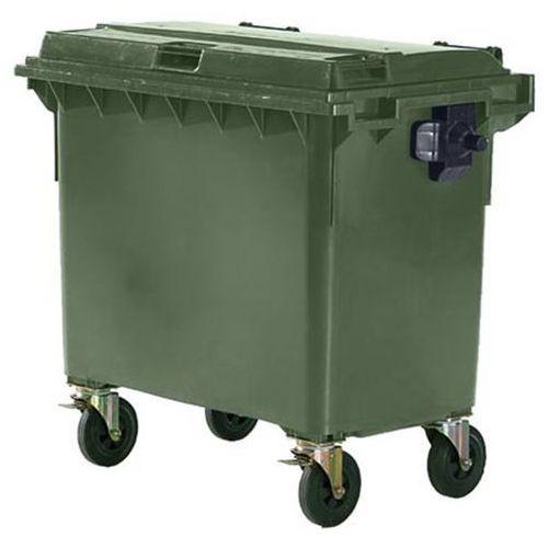 Schaefer group Duży pojemnik z tworzywa na odpady wg pn en 840, poj. 660 l, zielony, dostawa od
