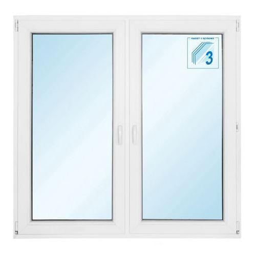 Okno PCV rozwierne + rozwierno-uchylne trzyszybowe 1465 x 1435 mm symetryczne (5908275610175)