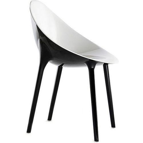 Krzesło super impossible czarno-białe marki Kartell
