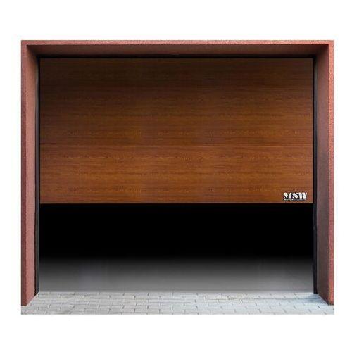 Brama garażowa - segmentowa - 2375 x 2125 mm - złoty dąb marki Msw