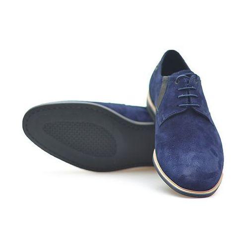 Pantofle Conhpol C00C-5533-ZJ86-00S01 Granatowe zamsz, kolor niebieski