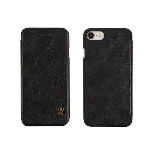 Apple iPhone 8 - etui na telefon Nillkin Qin - czarne, ETAP609NLQNBLK000
