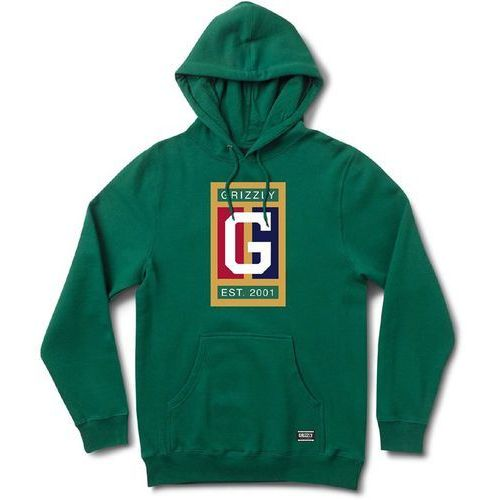 bluza GRIZZLY - Off The Court Hoodie Forest Green (FGRN) rozmiar: L