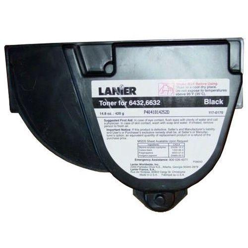 Lanier Wyprzedaż oryginał toner 117-0170, do lanier 6432 6632, 11500 stron, czarny black, pudełko zastępcze, oryginalny airbag/folia