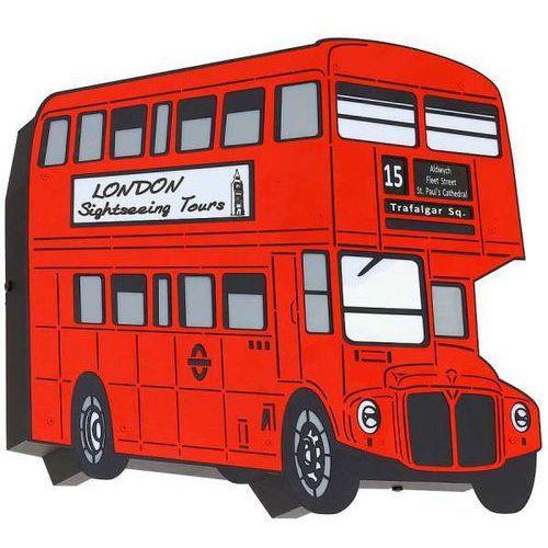Kinkiet LAMPA ścienna ADX 821S7 metalowa OPRAWA młodzieżowa autobus czerwony