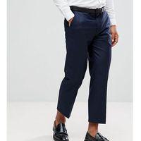 tapered cropped trouser - navy marki Heart & dagger