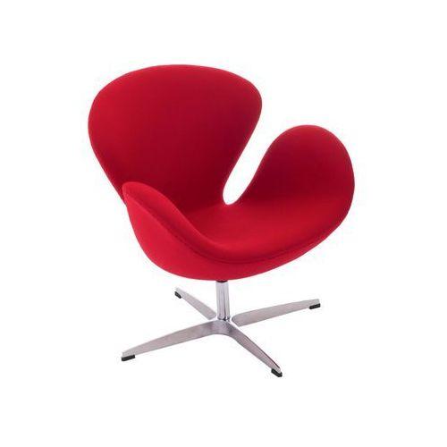 Fotel łabędź skóra naturalna - insp. proj. swan chair marki Design town