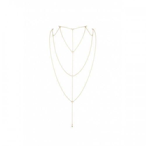 Bijoux indiscrets - magnifique back & cleavage chain (złoty) marki Bijoux indiscrets (sp)