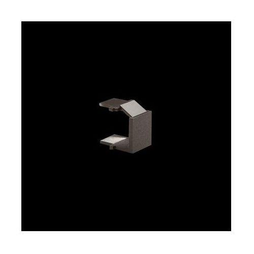 Zaślepka otworu wtyku RJ45/RJ12 do pokrywy gniazda teleinformatycznego; antracyt
