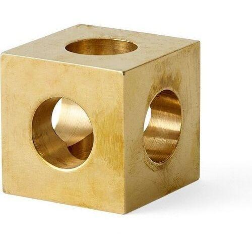 Świecznik Cube mosiądz, 4762839