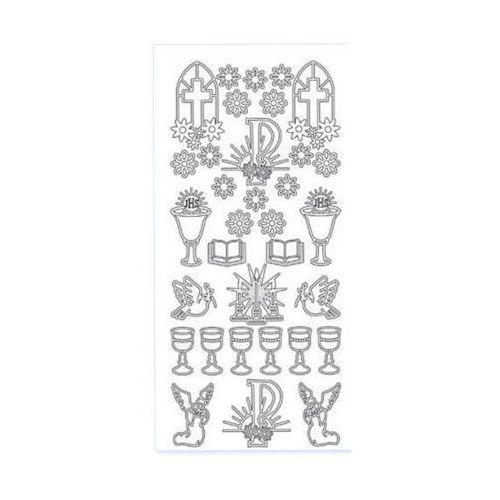 Sticker srebrny 11200 - komunia kwiatki (r56) x1 marki Herma