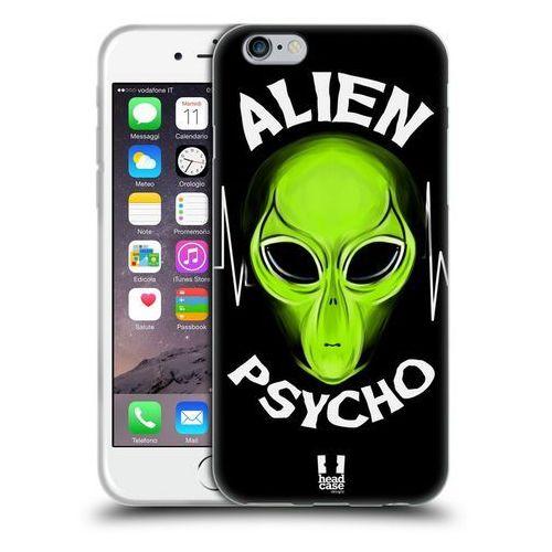 Etui silikonowe na telefon - alien emoji black psycho marki Head case