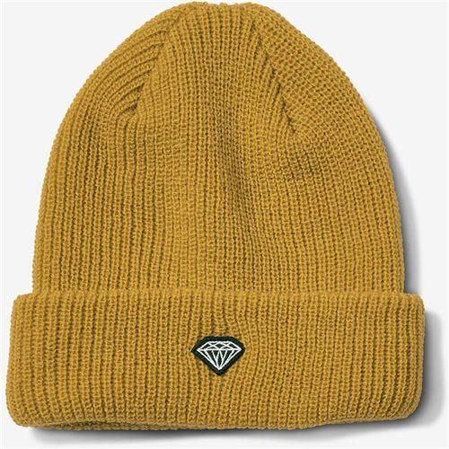 Czapka zimowa - brilliant patch beanie mustard (mus) marki Diamond