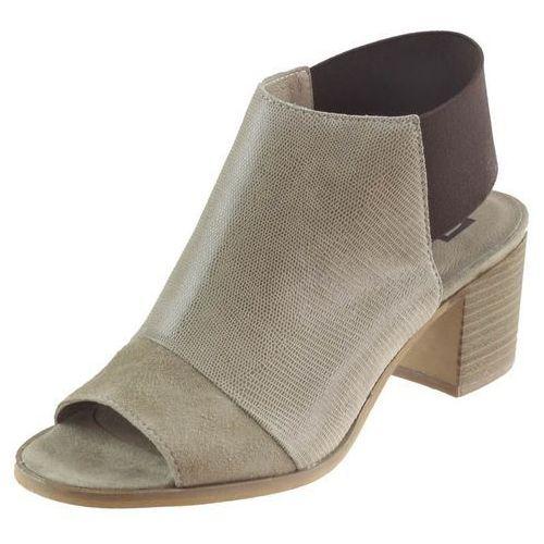 Sandały Nessi 80706 - Beżowe lizzaro (5902983427001)