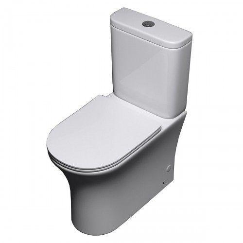 OKAZJA - WC kompakt RIMLESS deska slim Liniger Pia, B834-51890/304T