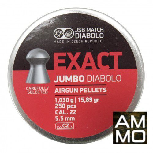 Śrut 5,5mm Diabolo Exact Jumbo półokrągły 250szt JSB, kup u jednego z partnerów