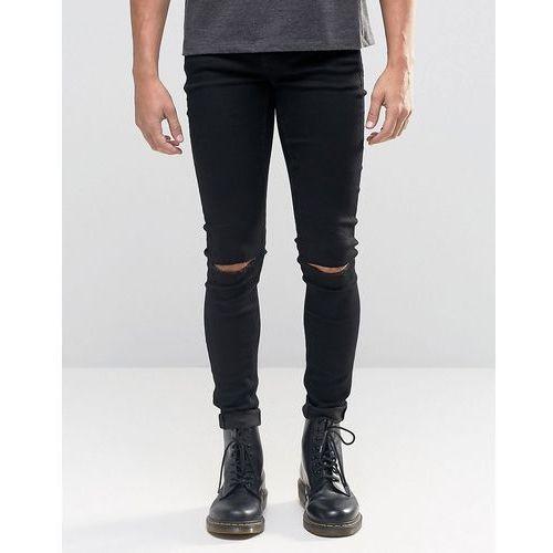 Cheap Monday Him Spray Jeans Cut Black Knee Rips - Black - produkt z kategorii- Pozostałe