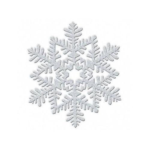 Brokatowy płatek śniegu - 1 szt.