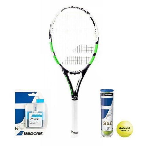 Babolat Pure Drive Lite Wimbledon 2016 + piłki + owijki (3324921442273)
