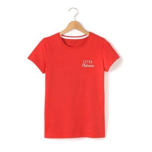 Koszulka z okrągłym dekoltem, z motywem na klatce piersiowej 10-16 lat