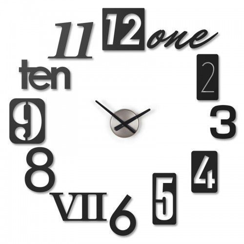 Zegar ścienny NUMBRA Umbra czarny