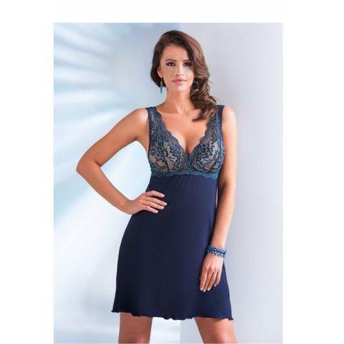 Koszula Nocna Model Laila (miseczki usztywniane) Navy, kolor niebieski
