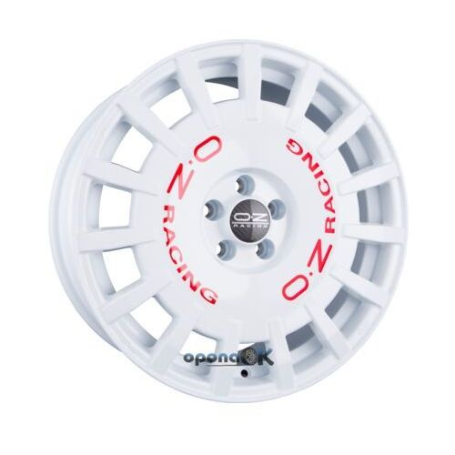 Oz rally racing race white + red lettering einteilig 8.00 x 18 et 45